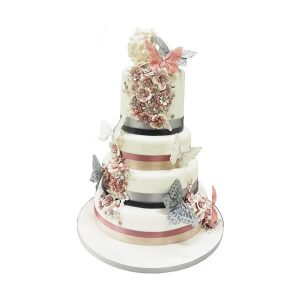 Butterfly Attraction Wedding Cake